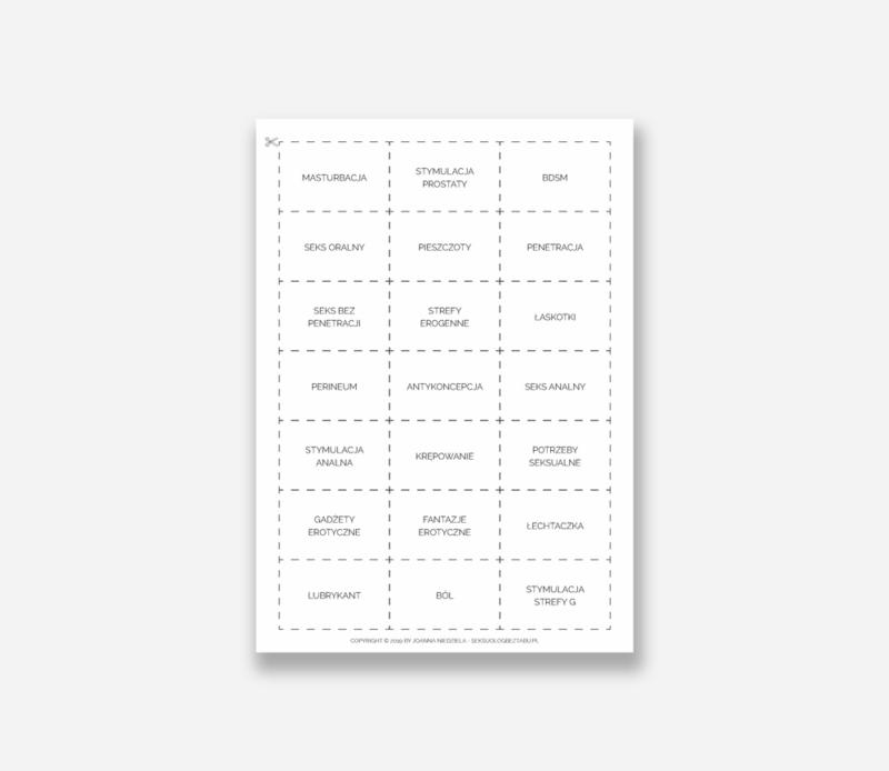 Seksomównik — Przykładowe hasła